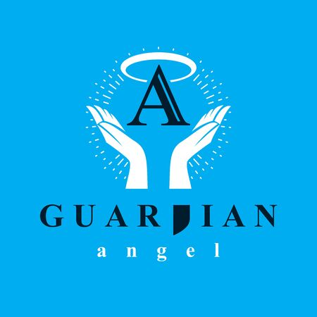 Archangel vector conceptual symbol for use in catechesis organizations. Archivio Fotografico - 124967912