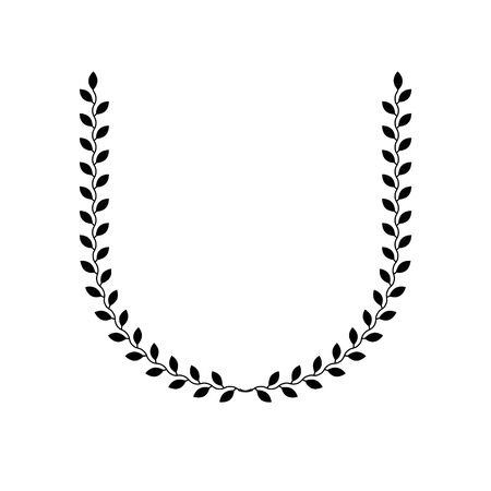Laurel Wreath floral ancient emblem. Heraldic vector design element. Retro style label, heraldry logo. Ilustração