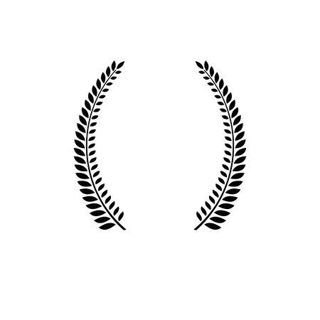 Laurel Wreath floral emblem. Heraldic Coat of Arms decorative logo isolated vector illustration.