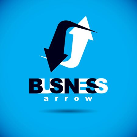 Business innovation logo. Vector boost up arrow, graphic design element. Company increasing concept.