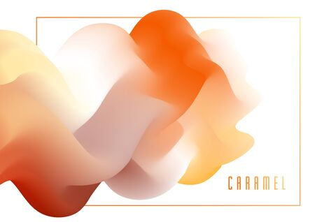 Gradient color 3D fluid shape vector abstract background, dynamic dimensional design element in motion, trendy modern style.