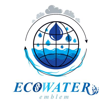 Pure water vector abstract design for use in mineral water advertising. Alternative medicine concept.