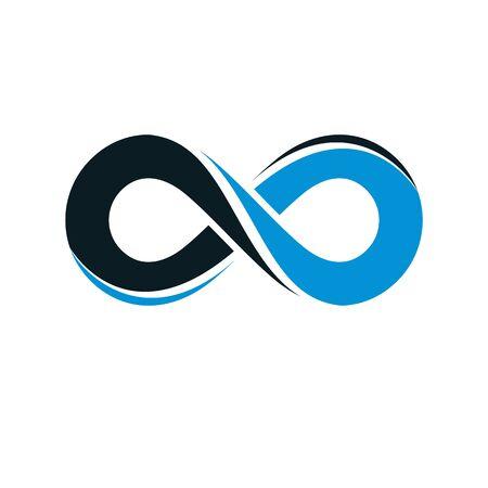 Endless Infinity Loop vector symbol, conceptual special design.