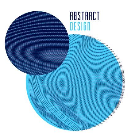 Trendy circles vector abstract composition, artistic background with dotted particles flow textures, design template for different ads.