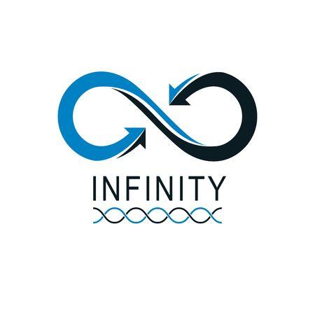 Infinity Loop conceptual, vector special sign.