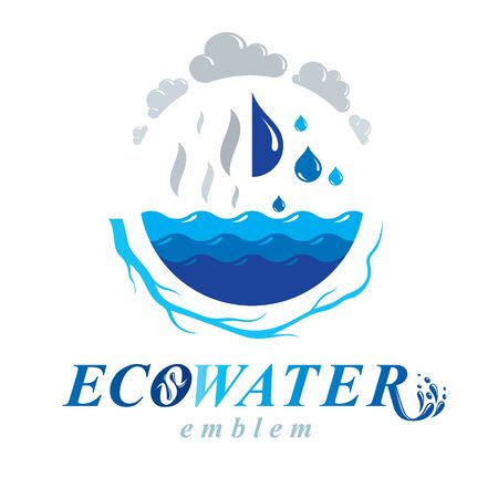 Pure water vector abstract for use in mineral water advertising. Environment conservation concept.