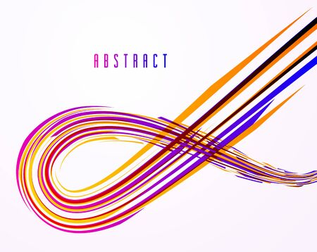 Science or technology vector abstract background, 3D dynamic lines in motion design element, futuristic template for ads or poster or cover. Futuristic design.