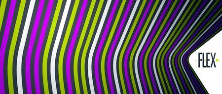 Abstrakte trendige moderne 3D-Linien im perspektivischen Vektorhintergrund, cooles Element des dimensionalen Designs, funky-Stil-Layout für Werbeplakate, Banner und Cover, perfekte Abstraktion.