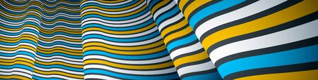 Abstract 3D trendy modern lines in perspective vector background, dimensional design cool element, funky style layout for ads posters banners and covers, perfect abstraction. Иллюстрация