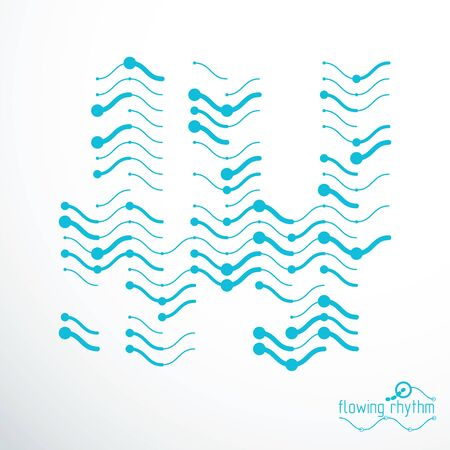 Technological vector wallpaper made with abstract lines. Modern geometric composition can be used as template and layout.