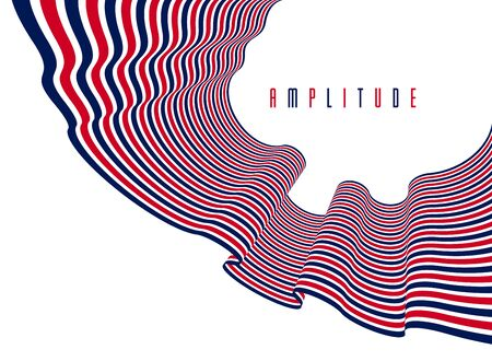 Abstrakte trendige moderne 3D-Linien im perspektivischen Vektorhintergrund, cooles Element des dimensionalen Designs, funky-Stil-Layout für Werbeplakate, Banner und Cover, perfekte Abstraktion. Vektorgrafik