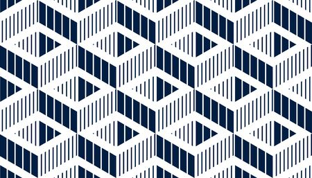 Seamless cubes vector background, lined boxes repeating tile pattern, 3D architecture and construction, geometric design. Иллюстрация