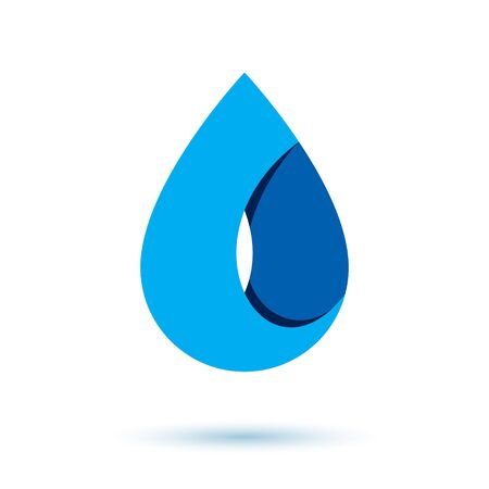 Sea wave splash vector logotype. World water day theme. Environment protection concept.