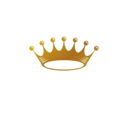 Imperial Crown vector illustration. Heraldic vintage logo. Ornate logotype isolated on white background.