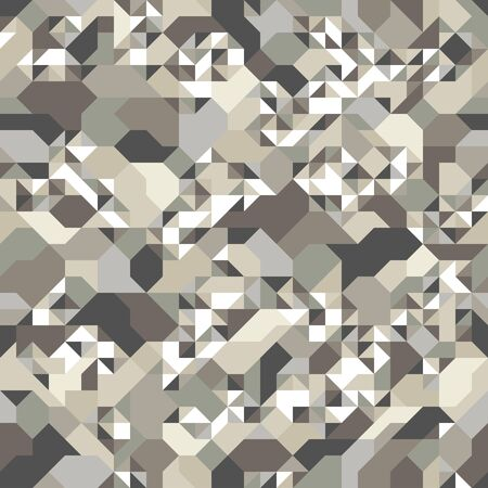 Abstract mosaic vector seamless background, tiling geometric pattern for wallpapers, wrapping paper or website backgrounds. Ilustracja
