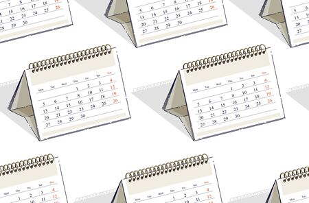 Calendars seamless background, backdrop for website, vector wallpaper or web site background.
