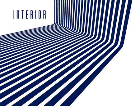 Geometrische Hintergründe mit minimalen parallelen 3D-Linien vector abstrakte Illustration, dimensionales Design cooles Element, funky Style-Layout für Werbeplakate, Banner und Cover.