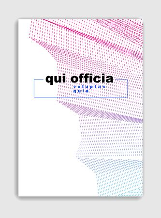 Abstract lines vector minimal modern brochure design, cover template, geometric halftone gradient. For Banners, Placards, Posters, Flyers. Beautiful and special, pattern texture.