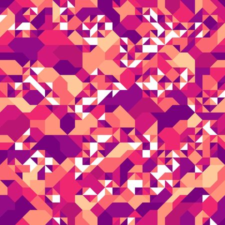 Mosaic seamless background, vector chaotic abstract geometric tiling background, interior design element or wallpaper, wrapping paper or web design.