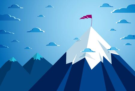 Beautiful mountain landscape in the night, peak scenic nature vector illustration, tranquil calm image for relaxing. 版權商用圖片 - 143890145