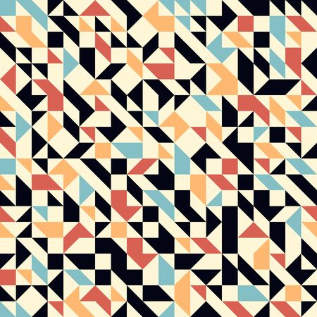 Abstract mosaic vector seamless background, tiling geometric pattern for wallpapers, wrapping paper or website backgrounds. Vektorgrafik