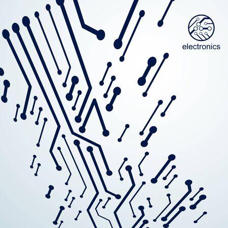 Vector circuit board, digital technologies abstraction. Computer microprocessor scheme, futuristic design. Microprocessor scheme abstract background