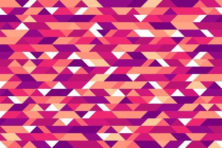Mosaik nahtlose Muster, geometrischer chaotischer Fliesenvektorhintergrund für Tapeten, Packpapier oder Websitehintergründe Vektorgrafik