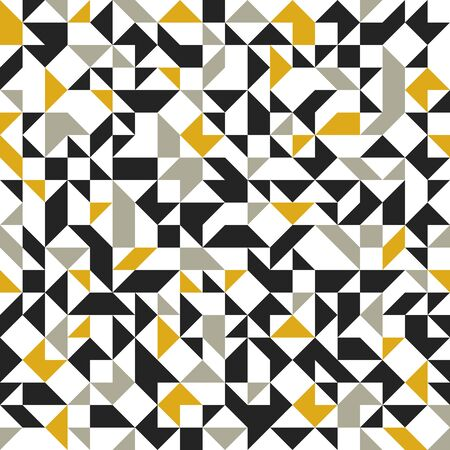 Abstract mosaic vector seamless background, tiling geometric pattern for wallpapers, wrapping paper or website backgrounds. Illustration