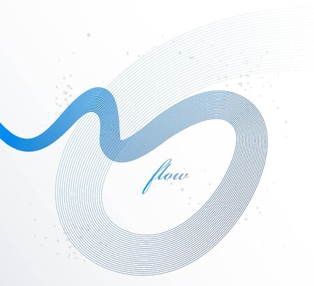 Elegant blue lines vector dimensional abstract background, 3D dynamic curve stripes in motion beautiful design element, template for banner or poster and other ads. 矢量图像