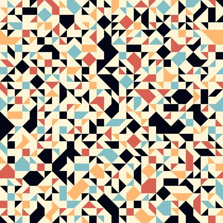 Abstract mosaic vector seamless background, tiling geometric pattern for wallpapers, wrapping paper or website backgrounds. Иллюстрация