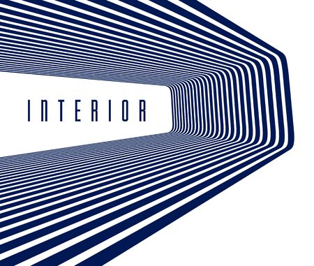 3D abstract lines in perspective vector background, modern trendy design element, cool style layout for ads posters banners and covers, retro template.