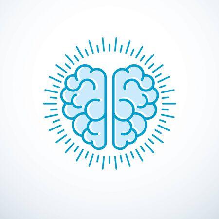 Human anatomical brain vector illustration, icon.