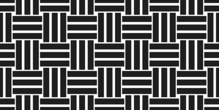 Weave seamless pattern, vector linear background with woven texture, textile knitted repeat tiling wallpaper, perfect simplistic minimal design.