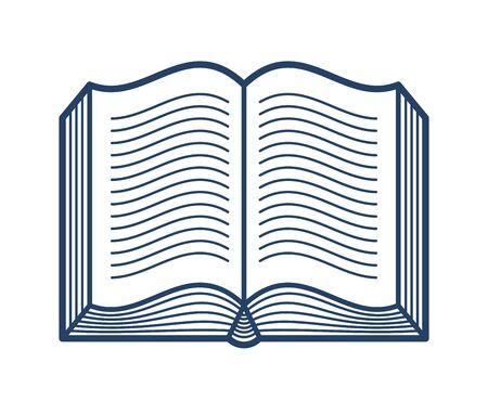 Open book vector linear icon, literature library reading line art symbol or logo.