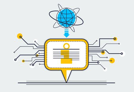 Communication technology vector concept, speech bubble.