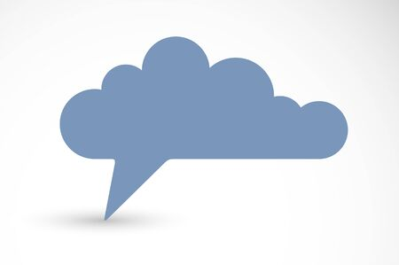 Collective unconscious psychology and sociology theme vector concept shown with speech bubble in a shape of cloud, symbolizes big data of people opinions and beliefs.