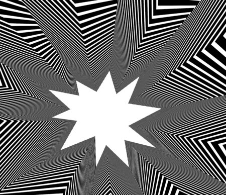 Abstract vector 3D lines background, black and white linear perspective dimensional optical pattern. 일러스트
