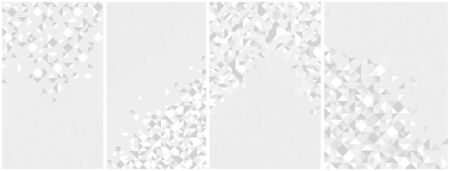 Abstract mosaic vector backgrounds set white and gray monochrome illustrations collection, geometric tiles backdrop abstraction, blank template for ads and presentations. 矢量图像