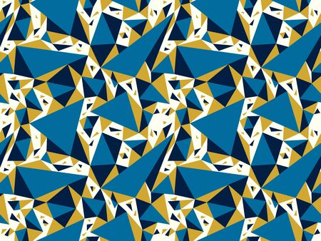 Abstract messy chaotic triangles seamless vector background, particles design pattern for wallpaper or print or textile or wrapping paper. 矢量图像