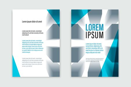 Business brochure with office building structure vector template, front and back pages, modern flyer leaflet or annual report, cover or presentation A4 format corporate trendy style.