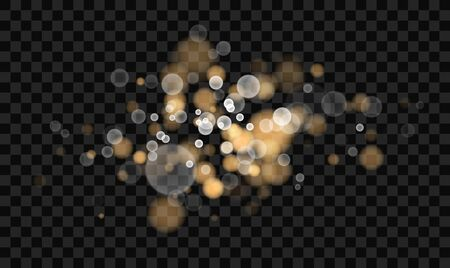 Beautiful bokeh blurred lights vector abstract background with defocused transparent lights effect, ready to put over any photo.