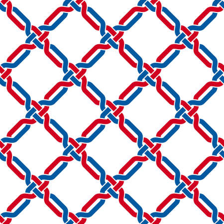 Metal lattice seamless vector background, grid background mesh lines, geometric lined wallpaper design, textile or wrapping paper.