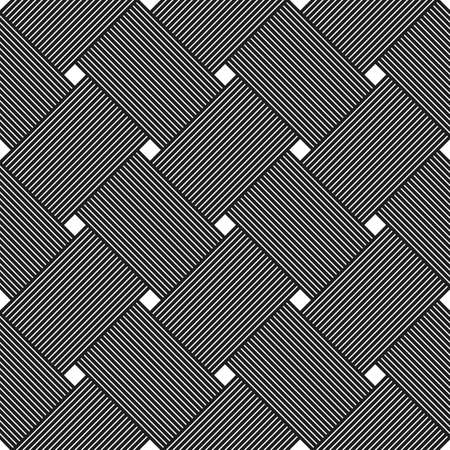 Seamless vector weaving pattern, linear background with crossed lines, textile knitted repeat tiling wallpaper, perfect simplistic minimal design. Illustration
