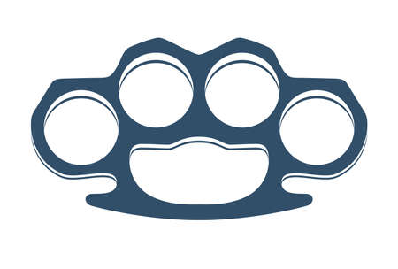 Brass knuckles isolated on white vector illustration.