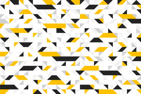 Chaotic abstract mosaic vector seamless background, geometric tiling pattern, interior design element or wallpaper, wrapping paper or web design. Illustration