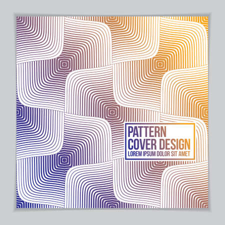 Template for Cover, Placard, Poster, Flyer and Banner Design. Cool geometric vector line background for your design. Minimalistic brochure design.