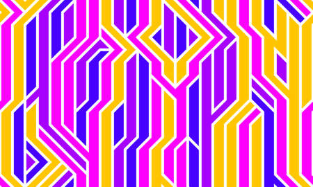 Tech style seamless linear pattern vector, circuit board lines endless background wallpaper image, colorful geometric design techno micro picture.