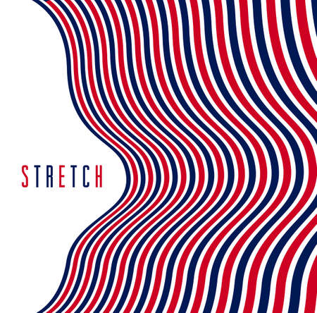 Abstract 3D trendy modern lines in perspective vector background, dimensional design cool element, funky style layout for ads posters banners and covers, perfect abstraction. 矢量图像