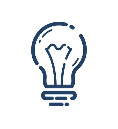 Light bulb idea vector simple linear icon, science and business line art symbol, creative solutions. Illusztráció