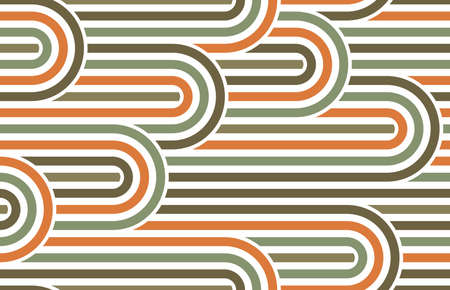Seamless linear vector geometric minimalistic pattern, abstract lines tiling background, stripy weaving, optical maze, twisted stripes.